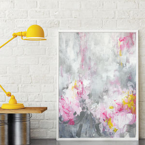 'Rosa Nina' Framed Giclée Abstract Canvas Print Art - posters & prints