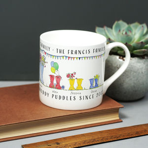 Welly Boot Family Mug - gifts for grandparents