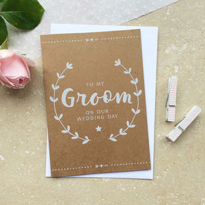 Groom On Our Wedding Day Card - wedding cards & wrap