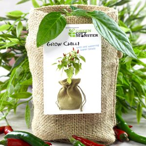Jute Bag Chilli Growing Set