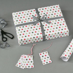 Starry Christmas Wrapping Paper