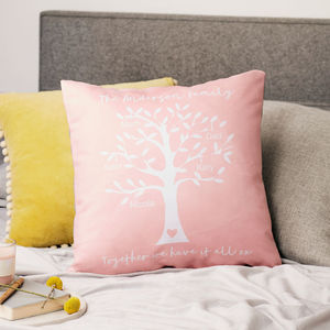 Personalised Family Tree Message Cushion
