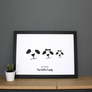 Personalised Panda Print - animals & wildlife