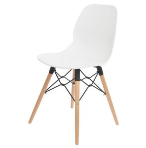White Scandinavian Dining Chair - furniture
