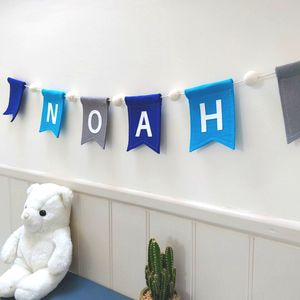 Personalised Felt Bunting With Felt Balls
