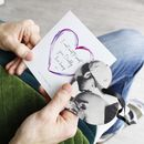 Daddy To Be Photo Removable Heart And Personalised Card