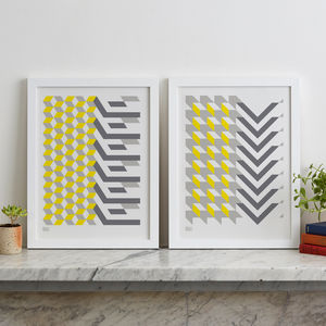 Architecture Inspired Geometric Screen Prints