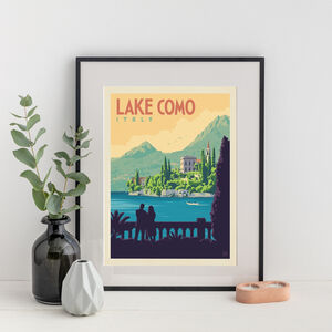 Lake Como, Italy Travel Print
