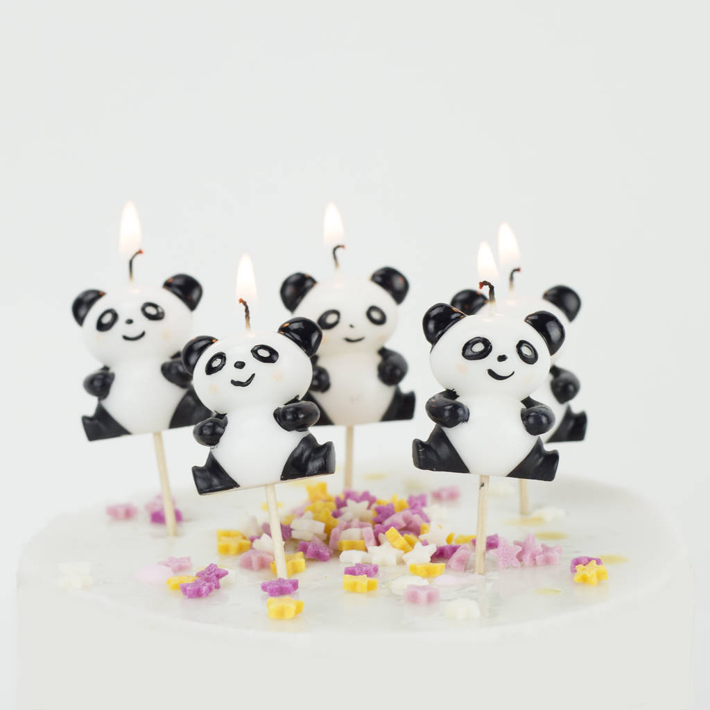 Panda Birthday Cake Candles