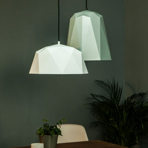 Geometric Pendant Light - dining room