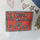 Personalised All The Drama Theatre Bag - close up