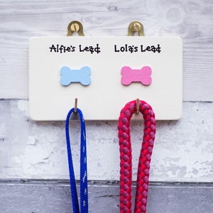 Personalised Dog Lead Hanger/Holder - dogs