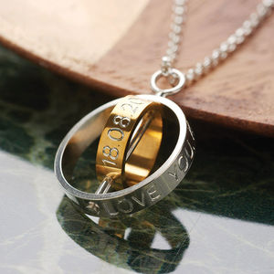 The Day My Life Changed Silver And Gold Necklace - jewellery gifts for mothers