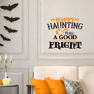 Happy Haunting Halloween Wall Sticker - party decorations