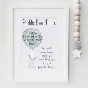 Christening Gifts Girls Boys Print - nursery pictures & prints