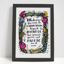 Magic Illustrated Quote Print