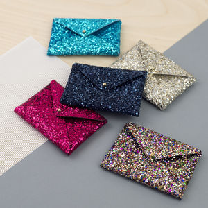 Glitter Card Holder - stocking fillers