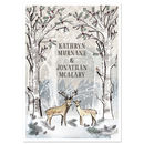 Snowy Deer And Stag Wedding Invite Sample