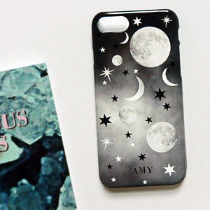 Cosmic Constellation Print Monogram Phone Case