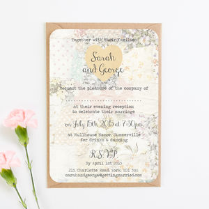 Floral Patchwork Evening Invite - invitations