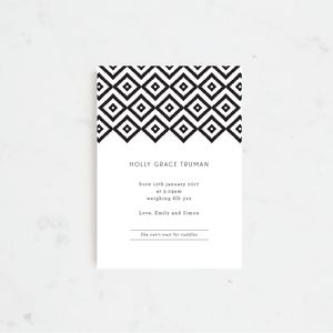 Aztec Baby Birth Announcement And Thank You Cards