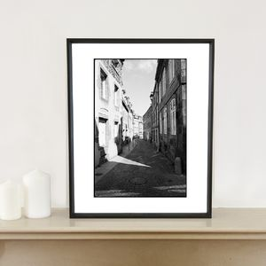 Geometry, Granville, France Photographic Art Print