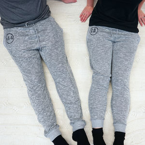 Personalised Monogram Lounge Pants - women's fashion