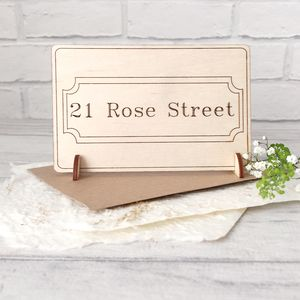 Personalised New Home Wooden Card - shop by category