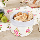 Helmsley Blush Floral Country Bread Basket