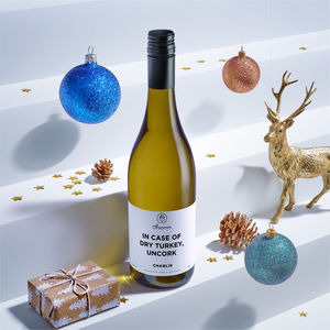 Personalised Christmas Wine Chablis