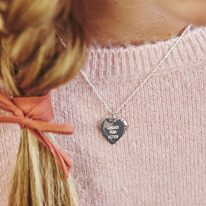 Hammered Edge Personalised Heart Necklace - gifts with meaning