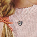 Hammered Edge Personalised Heart Necklace