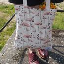 Flamingo Party Organic Reusable Tote Bag