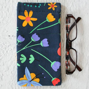 Pop Floral Print Glasses Case