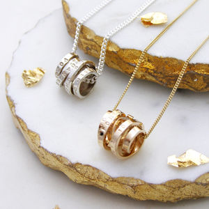Personalised Scroll Necklace - gifts for her