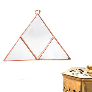 Geometric Triangle Wall Hanging Mirror - bedroom
