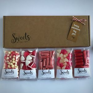 Valentines Day Letterbox Sweets Gift Box - love tokens