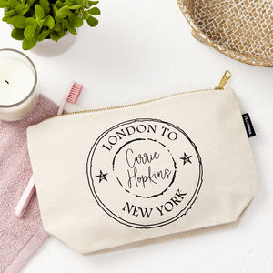Personalised Travel Pouch - make-up & wash bags