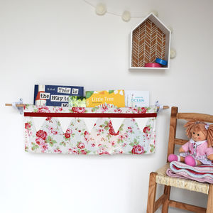 Floral Book Sling Storage - furniture