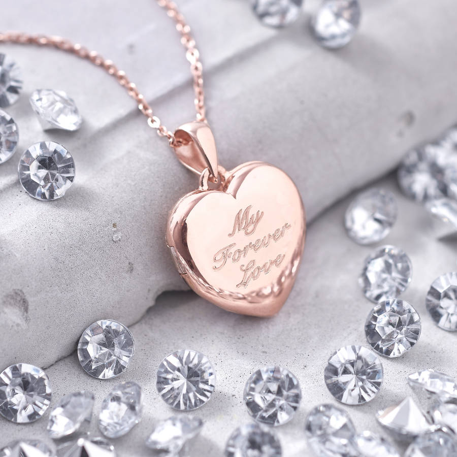Personalised Genuine Diamond 18ct Rose Gold Locket By