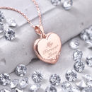 Personalised Genuine Diamond 18ct Rose Gold Locket