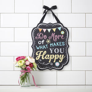 Painted Happiness Sign - decorative accessories