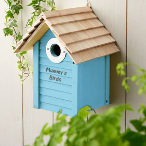 Personalised Wooden Bird Box - gifts for her