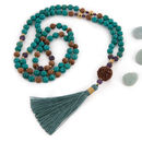 Tibetan Turquoise Yoga Mala Necklace