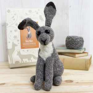 Grey Hare Crochet Craft Kit - toys & games