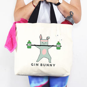 'Gin Bunny' Gym Bag - personalised gifts
