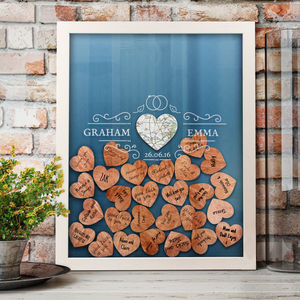 Personalised Wedding Guest Frame With Keepsake Box - new in prints & art