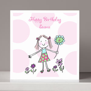 Personalised Girl's Birthday Card - birthday cards