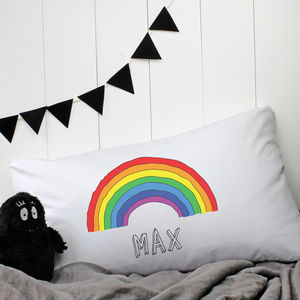 Personalised 'Rainbow' Pillow Case - bedroom