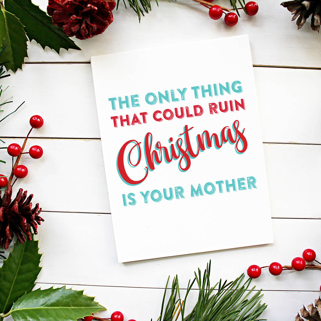 Merry Christmas Funny Images.Merry Christmas Funny Card For Mum Or Mother In Law